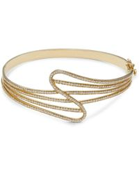 Hueb Wave 18k Yellow Gold & 1.39 Tcw Diamond Cuff Bracelet - Metallic