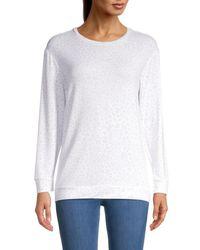 Workshop Women's Animal-print Long-sleeve T-shirt - White - Size Xs