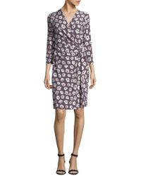 Jones New York - Floral Printed Wrap Dress - Lyst