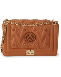 Valentino By Mario Valentino Alice D Sauvage Quilted Leather Shoulder Bag - Brown