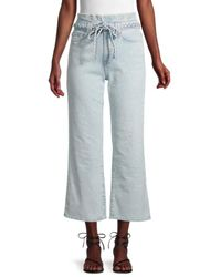 7 For All Mankind Alexa Paperbag Cropped Jeans - Blue