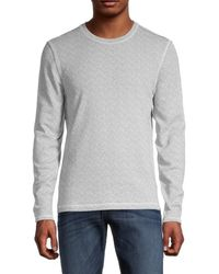 7 For All Mankind Men's Textured Cotton Sweater - Gray - Size M