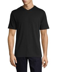 Saks Fifth Avenue Short-sleeve Tee - Black