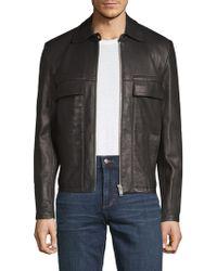 Maison Margiela - L-zip Leather Jacket - Lyst