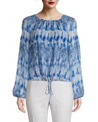 Rag & Bone Martel Long sleeve Floral print Silk Shirt in