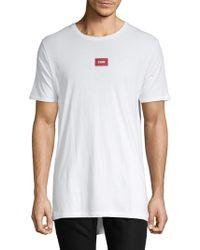 Zanerobe High-low Logo Cotton Tee - White