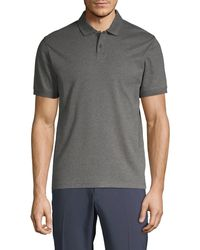 Saks Fifth Avenue Ultraluxe Cotton Polo - Red