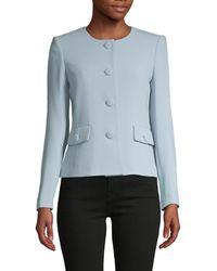 Karl Lagerfeld Long-sleeve Roundneck Jacket - Blue