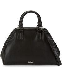 Sam Edelman Noely Faux Leather Bowling Bag - Black
