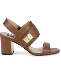 Karl Lagerfeld Jaylynn Leather Slingback Sandals - Black