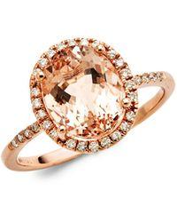 Saks Fifth Avenue 14k Rose Gold Diamond & Morganite Ring - Metallic
