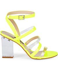 Nine West Mod Transparent Heel Sandals - Metallic