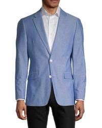 Tommy Hilfiger Regular-fit Cotton Blazer - Blue