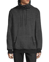 NANA JUDY Striped Stretch-cotton Sweatshirt - Black