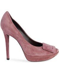 Roger Vivier Limelight Stiletto Suede Court Shoes - Multicolour