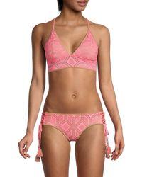 Becca Wanderlust Pointelle Bikini Top - Pink