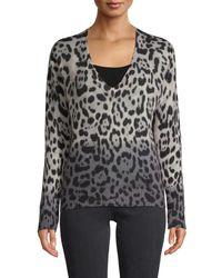 360 Sweater Women's Leopard Cashmere Jumper - Leopard - Size Xs - Multicolour