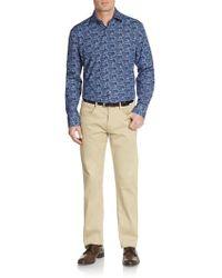 Bugatchi - Shaped-fit Molecule Patterned Sportshirt - Lyst