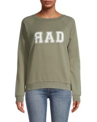 South Parade Raglan Sleeve Graphic Sweatshirt - Green