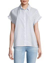 Beach Lunch Lounge - Pancho Striped Cotton Button-down Shirt - Lyst