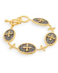 Freida Rothman - Filigree Oval Disc Bracelet - Lyst