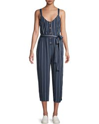 Sanctuary Striped Self-tie Jumpsuit - Blue