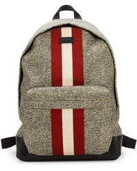 Bally Racing Striped Nylon Backpack - Multicolour