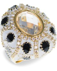 CZ by Kenneth Jay Lane 18k Goldplated & Crystal Turban Ring - Multicolor