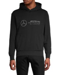 PUMA Men's X Amg Petronas Motorsport Logo Hoodie - Black - Size Xs