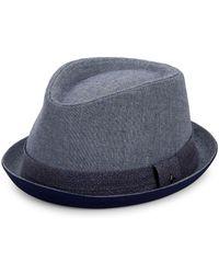 Original Penguin Fedora Hat - Blue