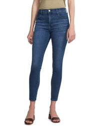 J Brand Women's Alana High-rise Cropped Skinny Jeans - Intrepid - Size 25 (2) - Blue