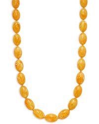 Kenneth Jay Lane Women's Amber Beaded Necklace - Metallic