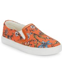 Sam Edelman - Pixie Floral-print Slip-on Trainers - Lyst