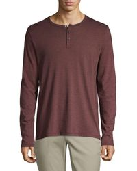 ATM - Classic-fit Striped Long-sleeve Henley - Lyst