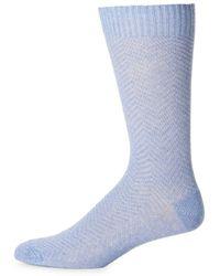 Saks Fifth Avenue - Textured Crew Socks - Lyst