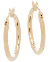 """Saks Fifth Avenue - 14k Yellow Gold Hoop Earrings/0.75"""" - Lyst"""