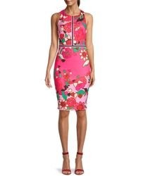 Ted Baker Women's Marloww Floral-print Sheath Dress - Pink - Size 0 (2)