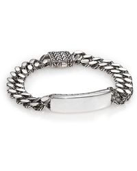 John Hardy - Classic Chain Gourmette Silver Link Id Bracelet - Lyst