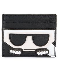 Karl Lagerfeld Faux Leather Card Case - Black