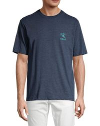 Tommy Bahama Men's Fresh Chips Daily Graphic T-shirt - Navy Heather - Size M - Blue
