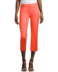 Peserico - Cropped Flare Trousers - Lyst