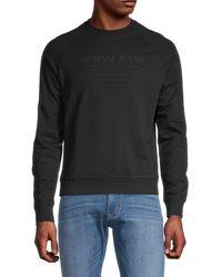 Armani Jeans Logo Sweatshirt - Black