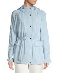 Calvin Klein Logo Embroidered Hooded Jacket - White