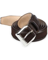 Sutor Mantellassi - Truman Veloucal Adjustable Leather & Suede Belt - Lyst