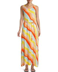 Chaser Striped Self-tie Coverup - Pink