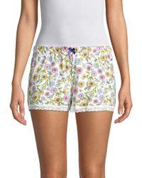 Jane And Bleecker - Floral Sleep Shorts - Lyst