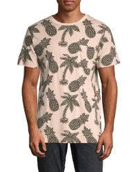 Wesc Maxwell Pineapple All Over Print Graphic Cotton T-shirt - Pink