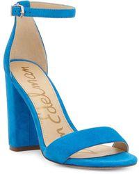 Sam Edelman Yaro Suede Sandals - Blue