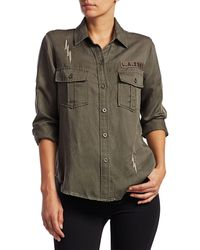 Rails Loren Military Shirt - Green