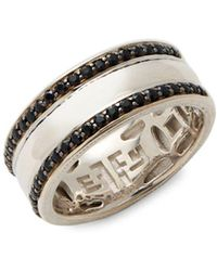 Effy Black Sapphire & Sterling Silver Band Ring - Metallic